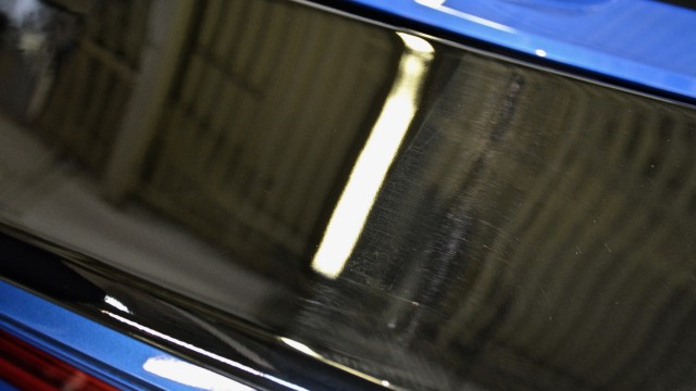 Porsche 911 Carrera 4S Spoiler Paint Correction after